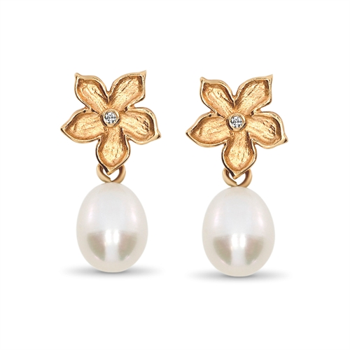 Floral Beauty Pearl Earrings